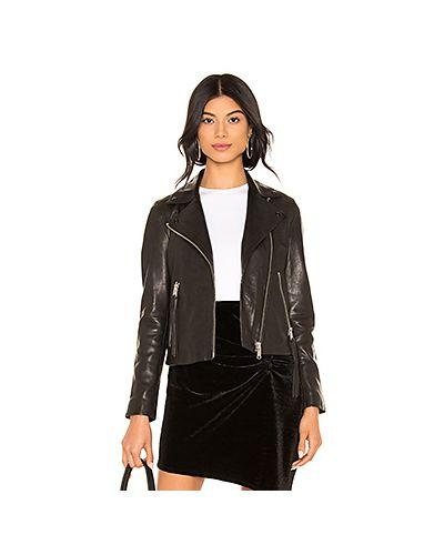 Черная кожаная куртка с подкладкой на молнии Allsaints