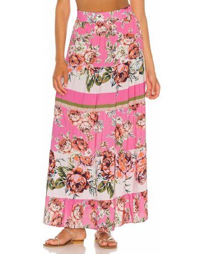 Różowa spódnica z wiskozy Maaji