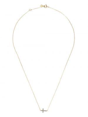 Krzyż złoto z szafirem Feidt Paris