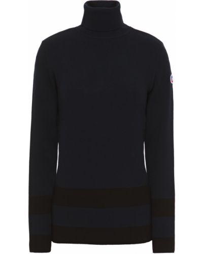 Niebieski sweter w paski z wiskozy Fusalp