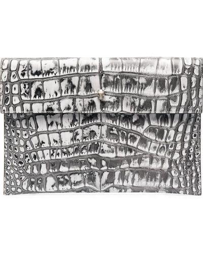 Kopertówka skórzana - biała Alexander Mcqueen