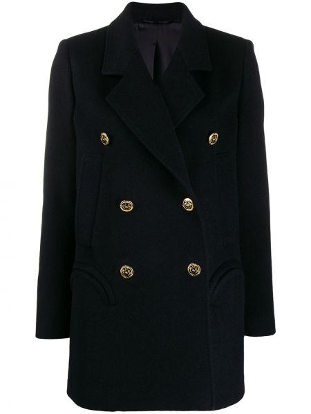 Синее длинное пальто Blazé Milano
