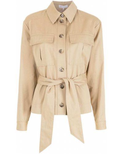 Хлопковая куртка с воротником с карманами Nk