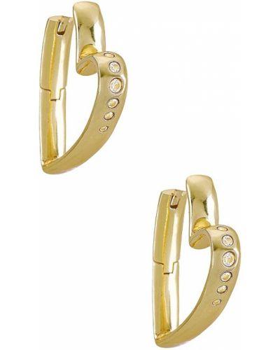 Złote kolczyki sztyfty pozłacane z cyrkoniami Kendra Scott