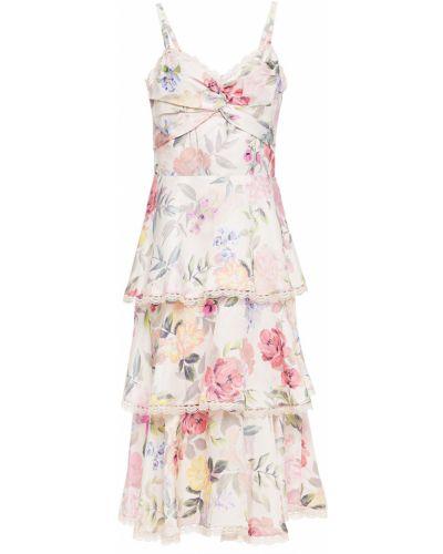Платье мини атласное - розовое Marchesa Notte