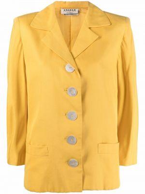 Льняная желтая куртка винтажная A.n.g.e.l.o. Vintage Cult