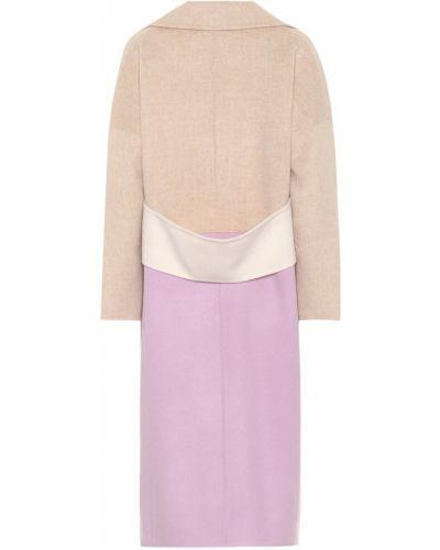 Деловое шерстяное бежевое пальто классическое Rejina Pyo