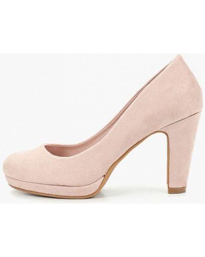 Туфли на каблуке замшевые розовый Kylie