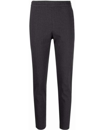 Хлопковые прямые серые укороченные брюки Kristensen Du Nord