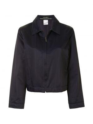 Синяя спортивная куртка на молнии с воротником Chanel Pre-owned
