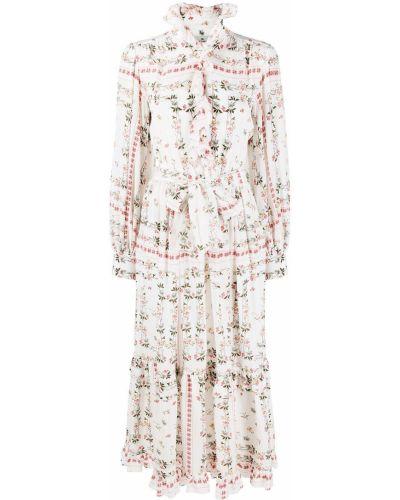 Шелковое платье макси - белое Etro