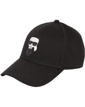 Хлопковая шапка - черная Karl Lagerfeld