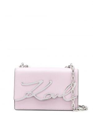 Skórzana torebka mini na łańcuszku Karl Lagerfeld