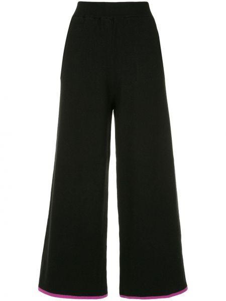 Черные укороченные брюки с поясом свободного кроя Guild Prime