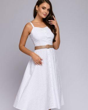Летний сарафан хлопковый с v-образным вырезом 1001 Dress