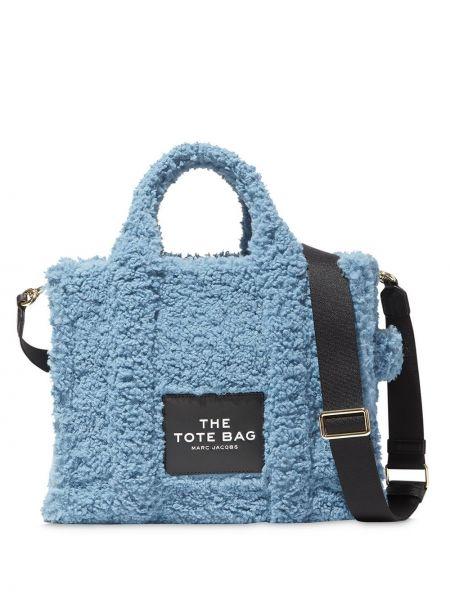 Синяя сумка-тоут на молнии с карманами Marc Jacobs