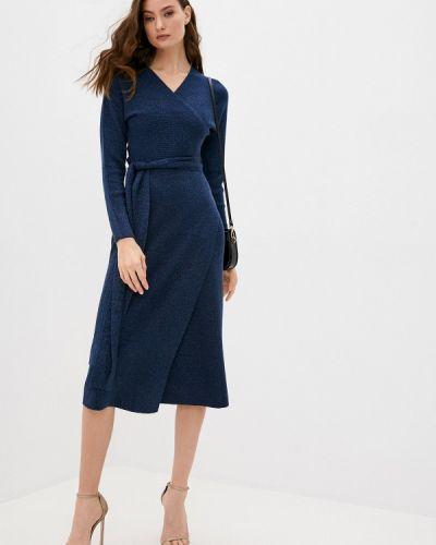 Синее вязаное платье Max&co