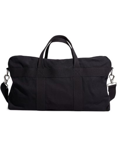 Czarna torebka duża bawełniana Calvin Klein 205w39nyc