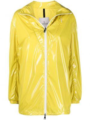 Желтая ветровка с воротником с карманами Moncler