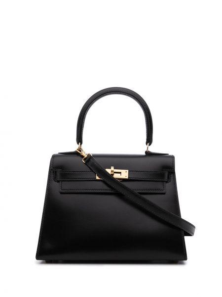 Czarna złota torebka Hermes
