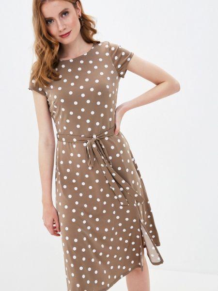 Повседневное платье бежевое весеннее Wallis