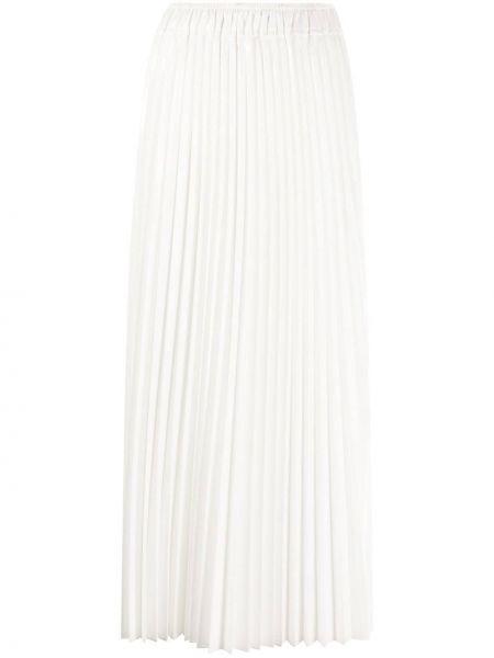 Плиссированная юбка на резинке с завышенной талией Nude