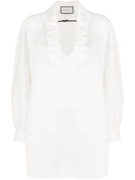 Bluzka biała bielizna Gucci