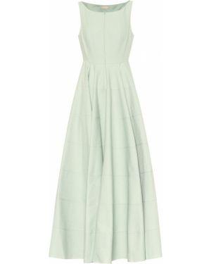 Платье миди зеленый жаккардовое Alaïa