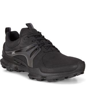 Текстильные черные кроссовки с подкладкой на шнурках Ecco