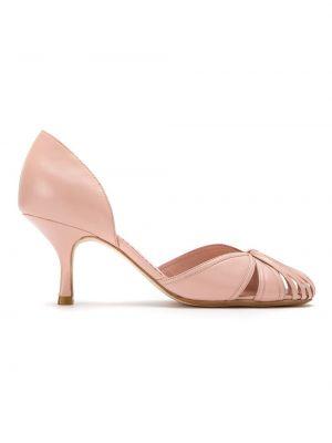 Туфли на каблуке кожаные без каблука Sarah Chofakian