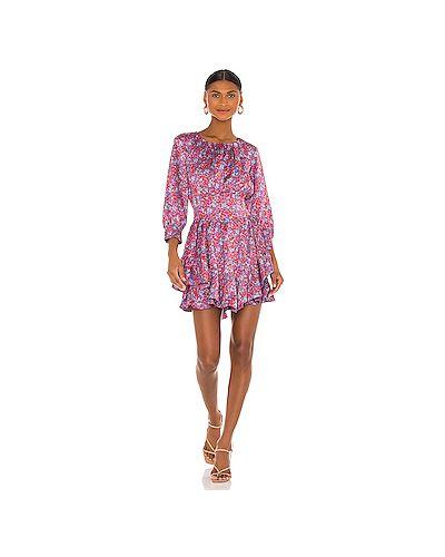 Открытое фиолетовое платье мини с открытой спиной на молнии For Love & Lemons