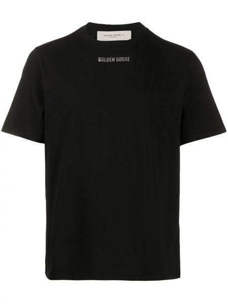 Koszula krótkie z krótkim rękawem z nadrukiem z logo Golden Goose