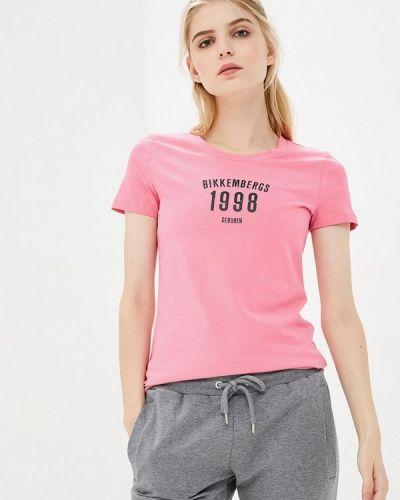 Розовая футболка 2019 Bikkembergs