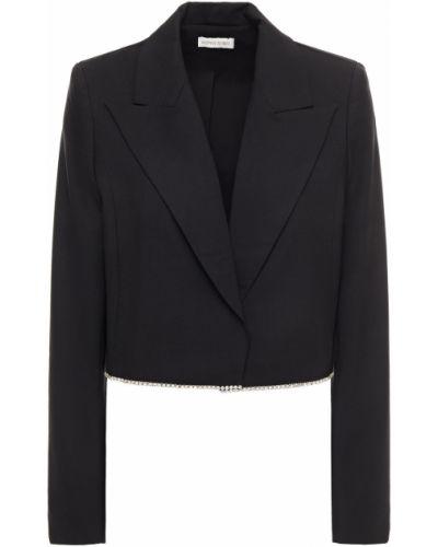 Шерстяной черный пиджак с подкладкой Ronny Kobo