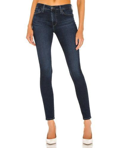 Klasyczne niebieskie jeansy rurki bawełniane Ag Adriano Goldschmied