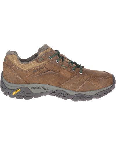 Коричневые кожаные полуботинки на шнурках Merrell