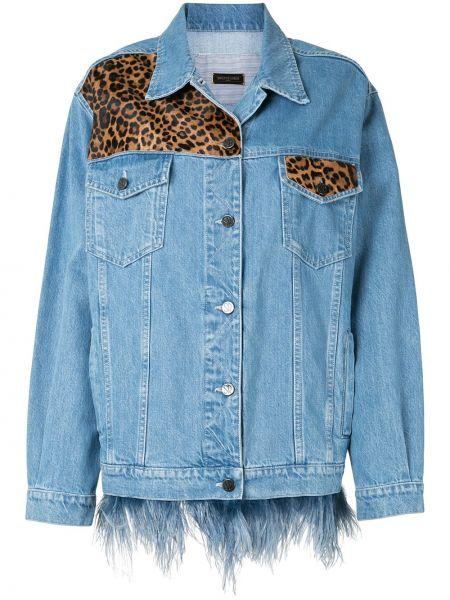 Хлопковая синяя джинсовая куртка с карманами Simonetta Ravizza
