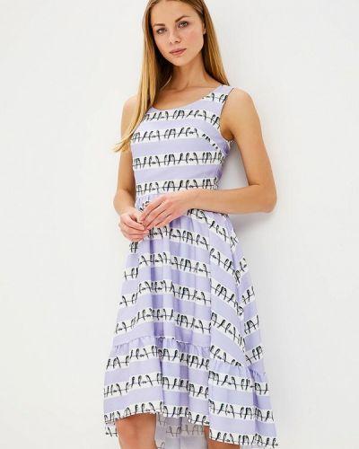 Фиолетовое прямое платье Tutto Bene