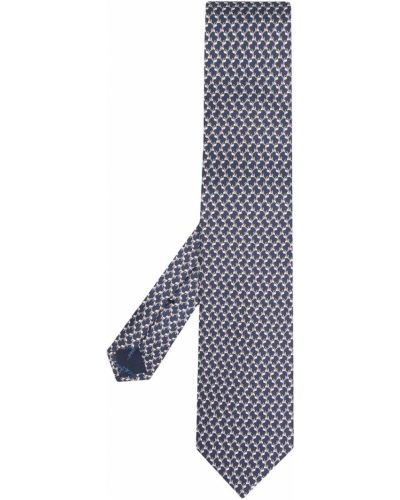 Шелковая синяя резинка для волос Salvatore Ferragamo