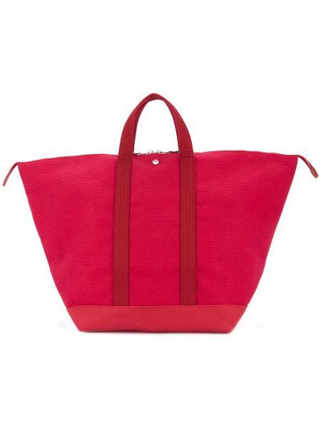 Красная большая сумка круглая Cabas