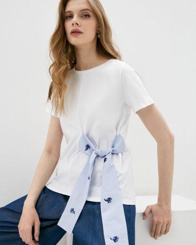 С рукавами белая футболка Iblues