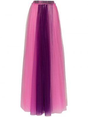 Fioletowy dom nylon z wysokim stanem spódnica maxi Viktor & Rolf