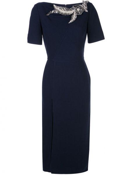 Платье мини миди с вышивкой Oscar De La Renta