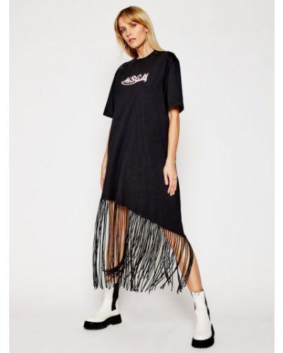 Czarna sukienka casual Msgm