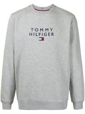 Серая толстовка с вышивкой Tommy Hilfiger