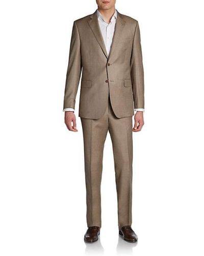 С рукавами костюмный шерстяной костюм Saks Fifth Avenue