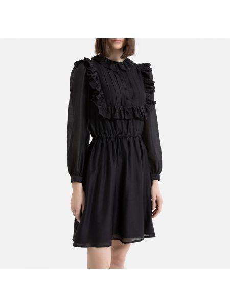 Платье с поясом на пуговицах трапеция La Redoute