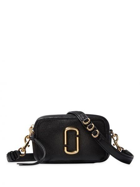 Кожаная сумка через плечо - черная Marc Jacobs