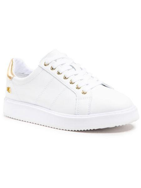 Białe sneakersy Lauren Ralph Lauren