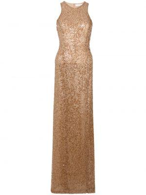 Brązowa złota sukienka Galvan